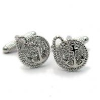 Anchor On Rope Novelty Cufflinks by Onyx-Art  Gift Boxed CK1026